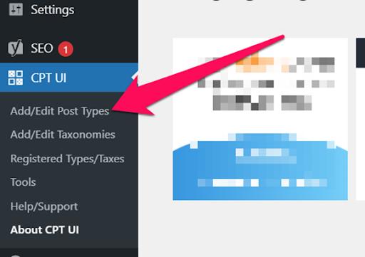 Add and edit custom post