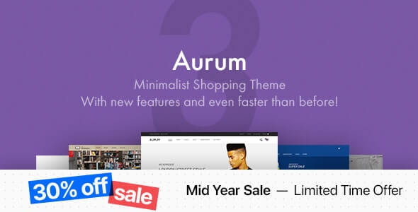 Aurum Minimalist Theme For WordPress