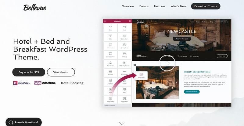Bellevue Elementor WordPress Theme and Template
