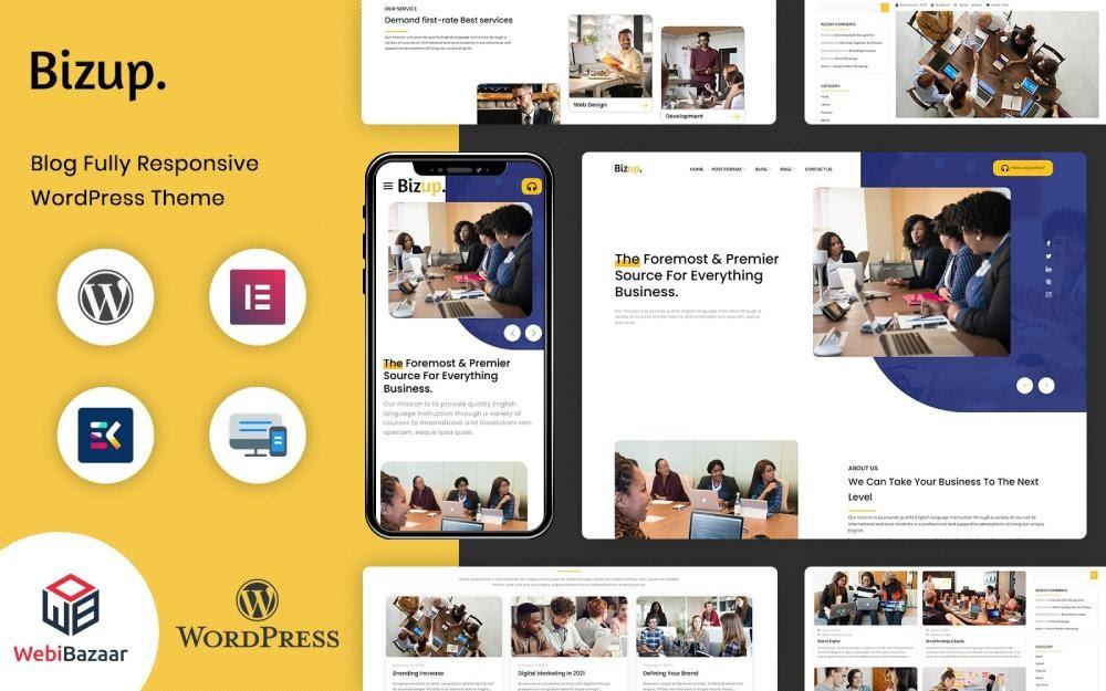 Bizup Multipurpose Business Consulting Elementor WordPress Theme