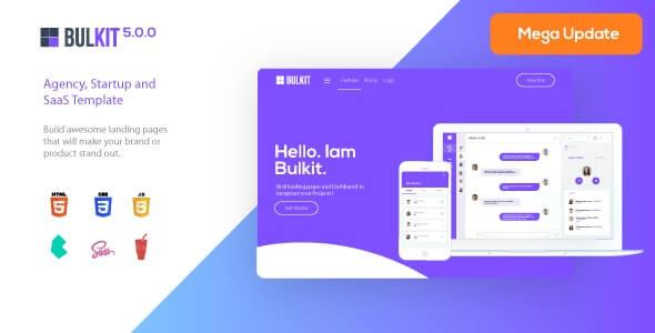 Bulkit Startup HTML Template
