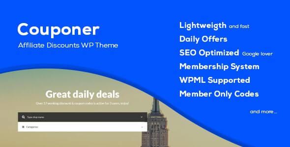 Couponer Coupon Theme For WordPress