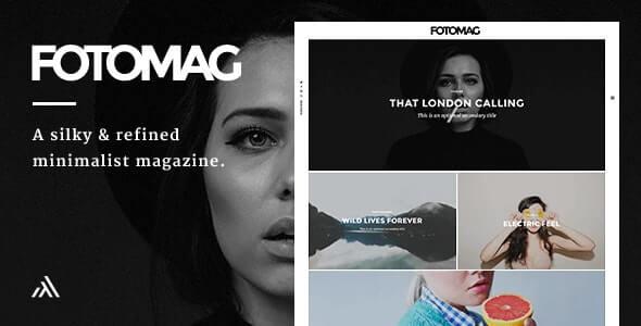 Fotomag Minimalist WordPress Theme