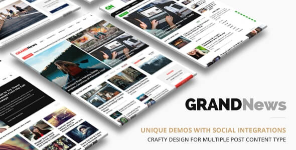 Grand News Newspaper Theme For WordPress