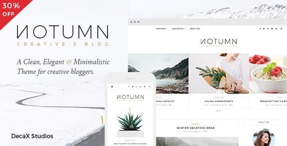 Notumn Minimalist WordPress Theme