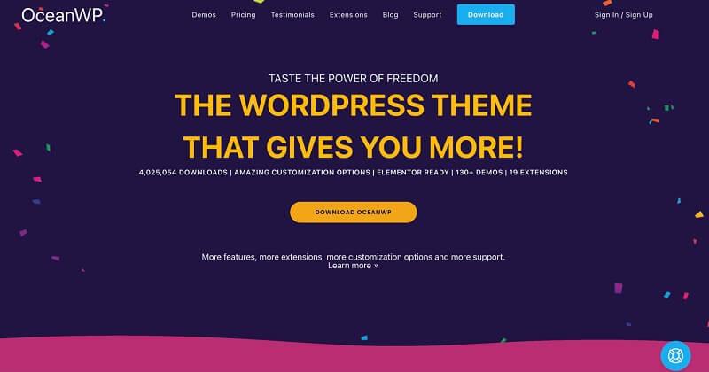 OceanWP Elementor WordPress Theme and Template
