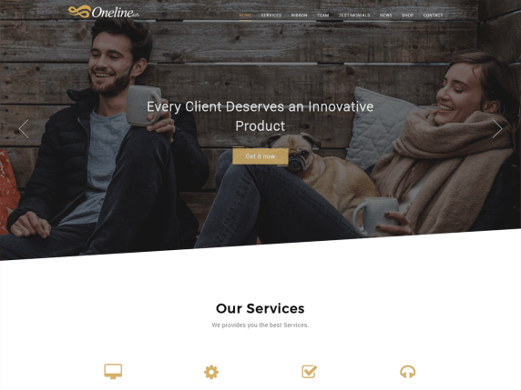 Oneline Lite Free One Page Theme For WordPress