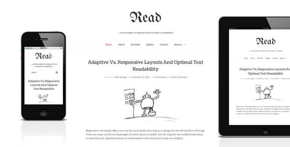 Read WP Minimalist Theme For WordPress
