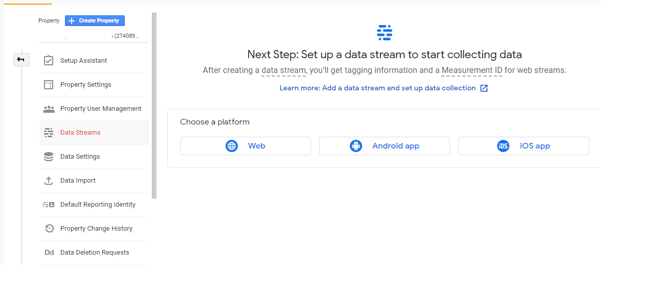 Set up a data stream