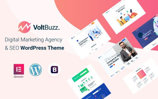 VoltBuzz SEO and Digital Marketing Agency WordPress Theme
