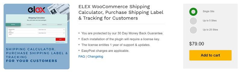 ELEX WooCommerce Shipping Calculator Plugin
