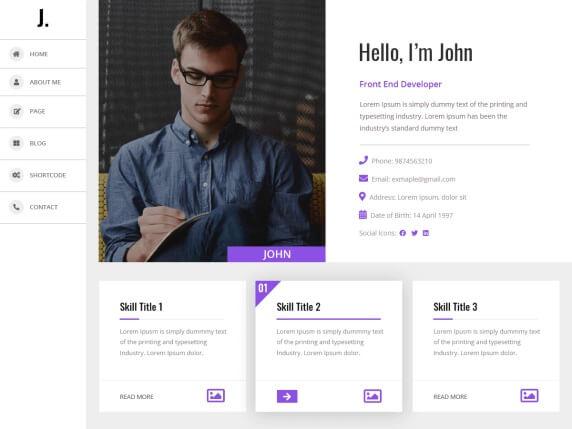 My Resume Free Multilingual Theme For WordPress