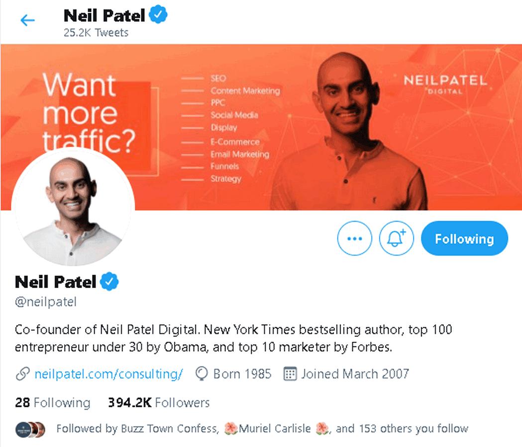 Neil Patel's influencer marketing