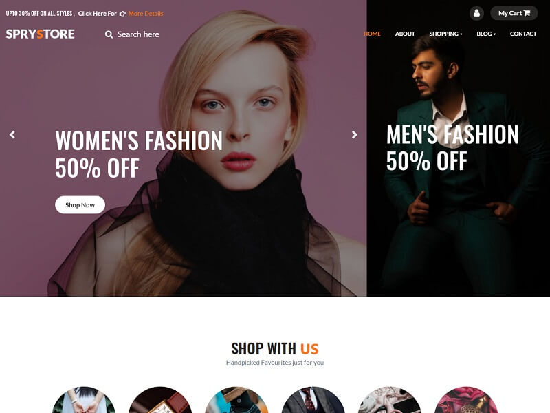 Sprystore Free Fashion Website Template