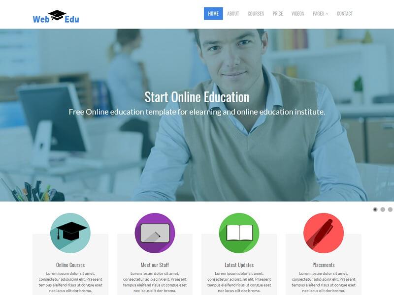 Web Edu Free Education Website Template