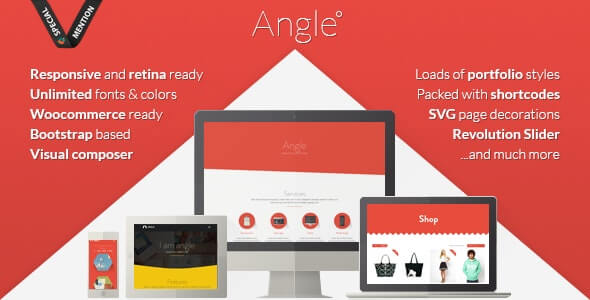 Angle Bootstrap Theme For WordPress
