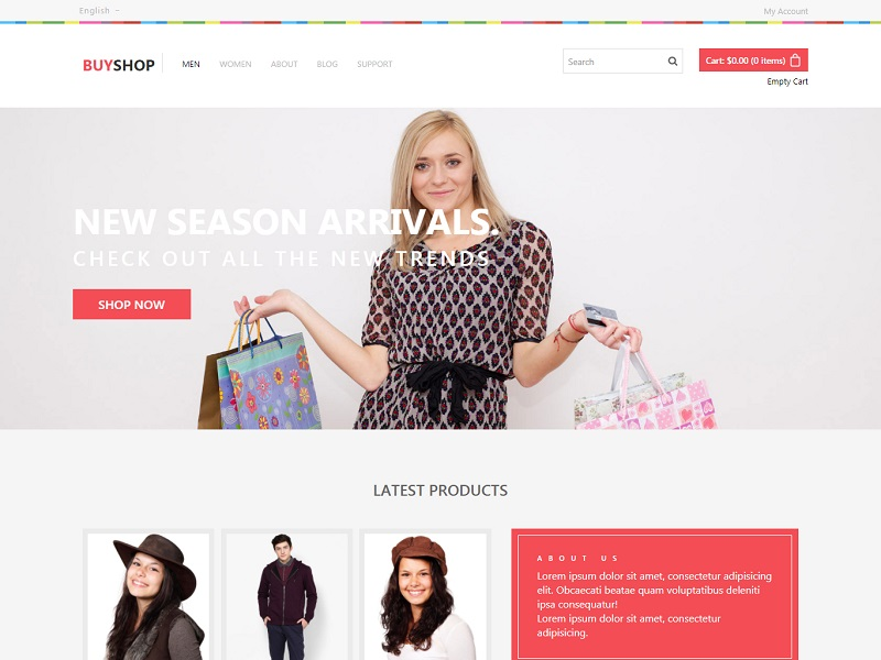 Buy Shop Free Ecommerce Website Template