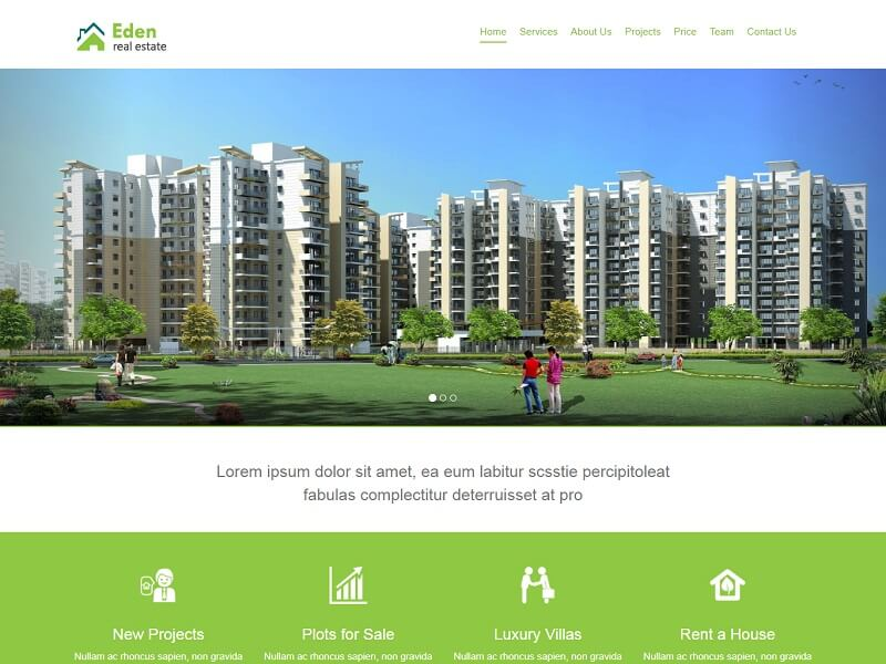 Eden Real Estate Free HTML Template