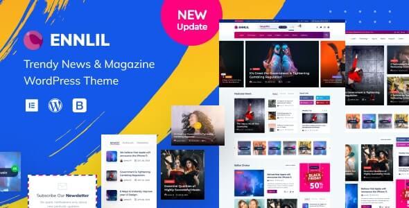 Ennlil Tech Blog Theme For WordPress