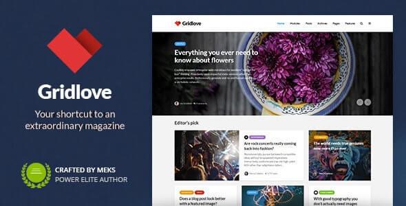 Gridlove Bootstrap Theme For WordPress