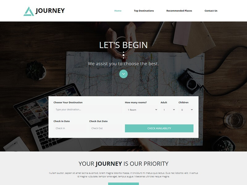 Journey Free Travel HTML Template