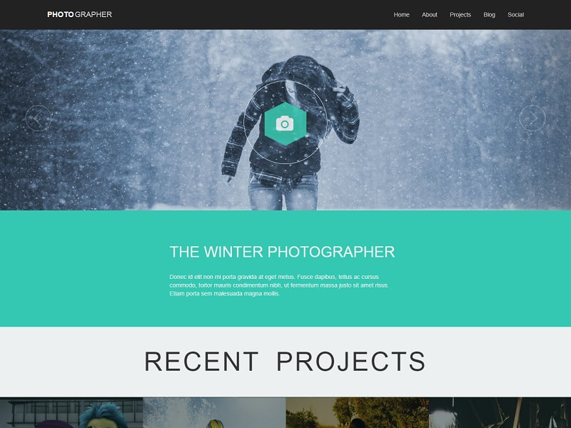Photographer Plus Free Photography HTML Template