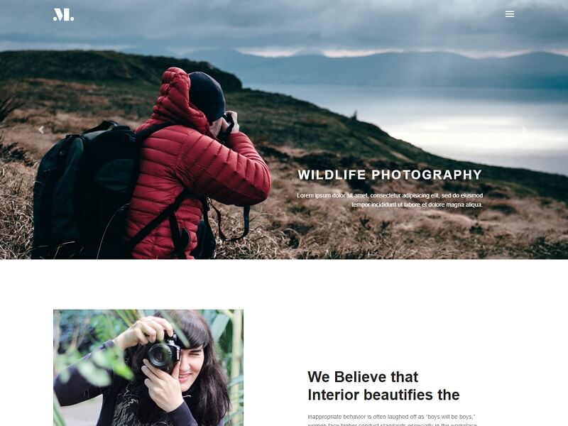 Photography Free HTML Template