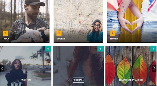 Post Category Image with Grid and Slider