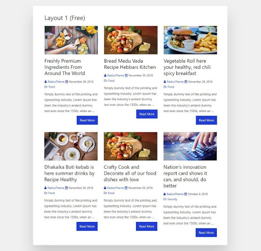 The Post Grid Layout View