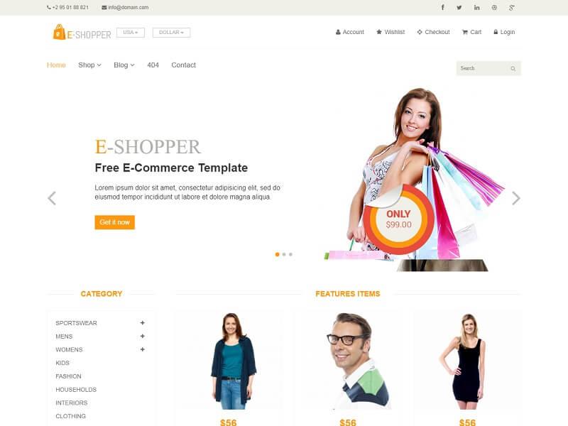 eShopper Free Ecommerce HTML Template