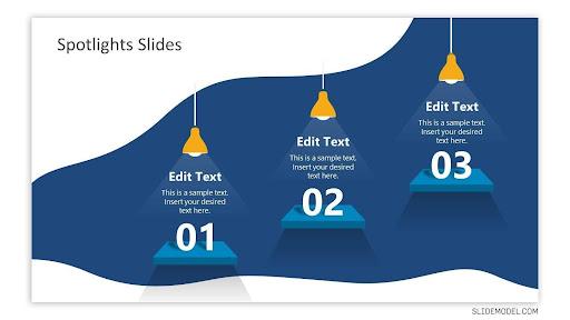 3 Step Spotlight Slides for PowerPoint