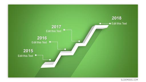4 Stages Shelf Timeline Template