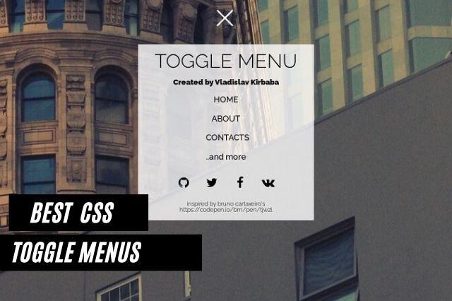 Best CSS Toggle Menus
