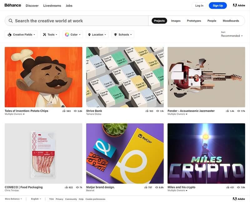 Best Freelancer website Behance