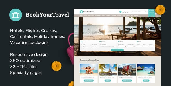 Book Your Travel HTML Template