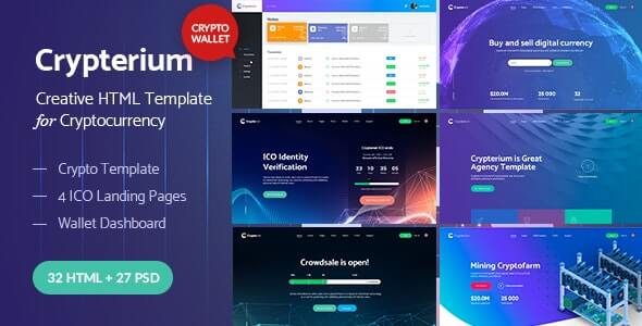 Crypterium Landing Page HTML Template