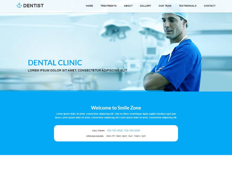 Dentist Free Medical HTML Template