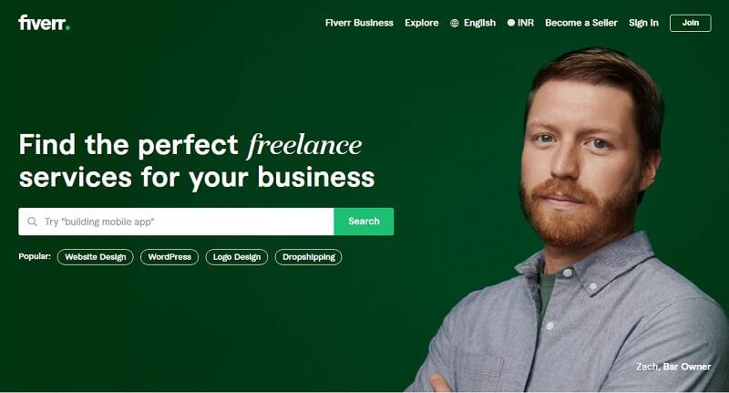 Fiverr website For Freelancer