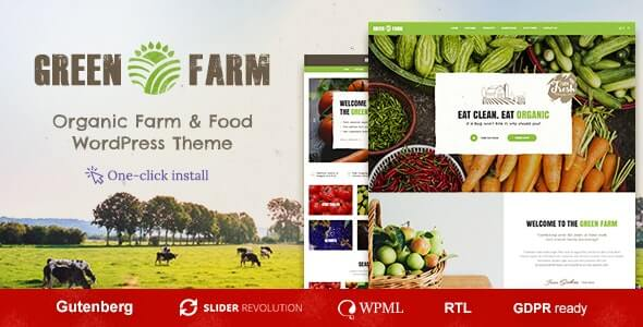Green Farm Agriculture Theme For WordPress