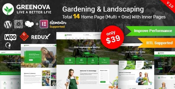 Greenova Agriculture Theme For WordPress