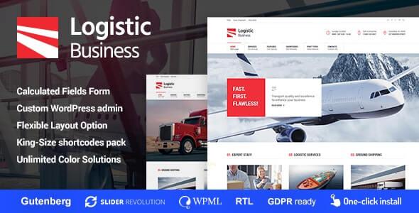 Logistic Business Transportation Theme For WordPress