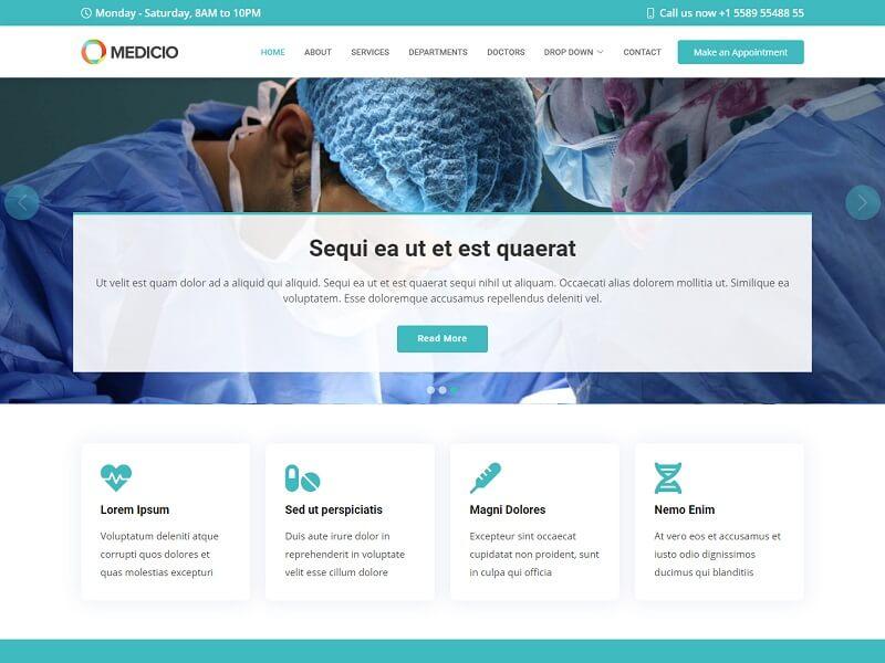 Medicio Free Medical HTML Template