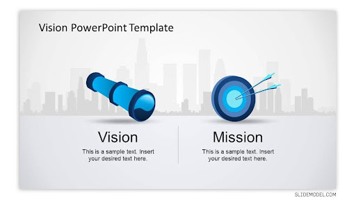 Mission Vision PowerPoint Template with Creative Background