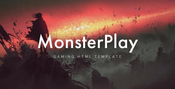 MonsterPlay Gaming HTML Template