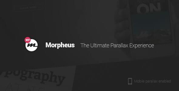 Morpheus One Page Theme For WordPress