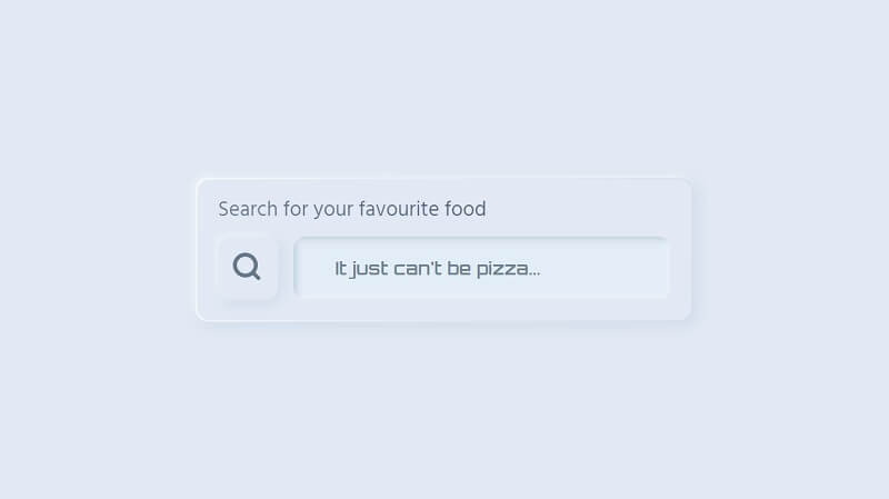 Skeuomorphic CSS Search Boxes Input