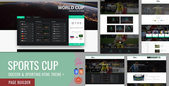 Sports Cup HTML Template