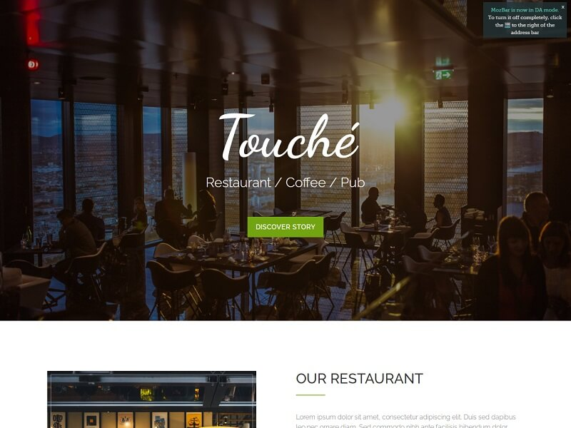 Touche With Parallax Scrolling