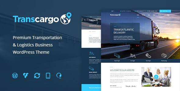 Transcargo Transportation Theme For WordPress