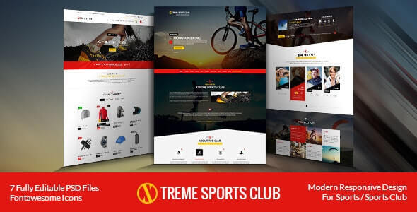 Xtreme Sports Club Website Template